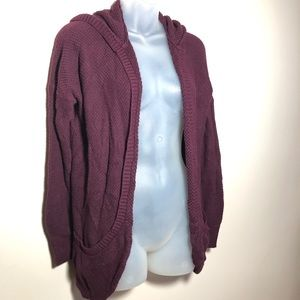Medium American Eagle Hooded Sweater Cardigan